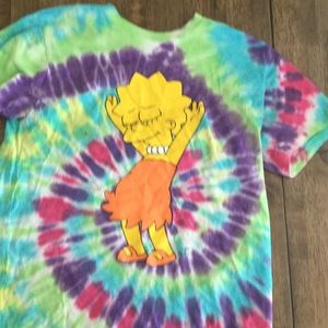 Zuimes Simpsons tie dye shirt